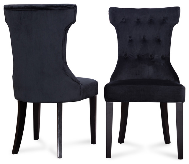 Black Upholstered Dining Chairs