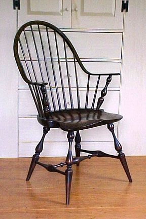 Windsor chair, thought by many to be the first authentic American