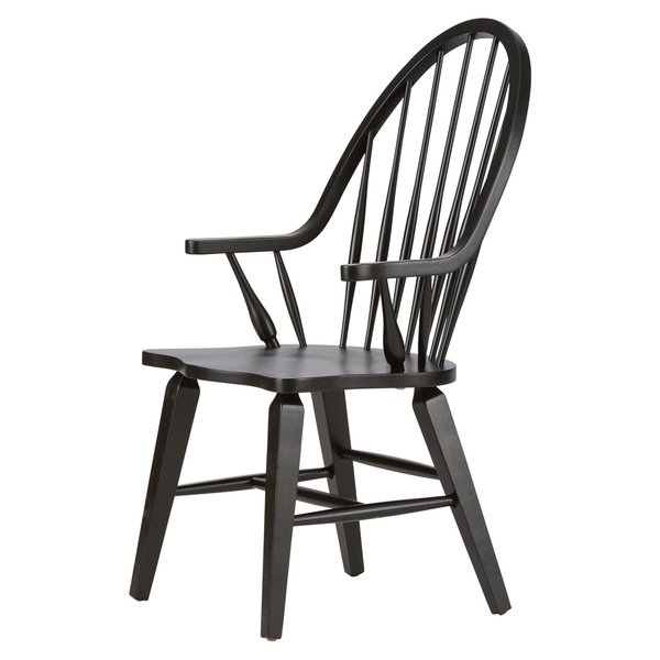 Shop The Gray Barn VermejoTraditional Rustic Black Windsor Arm Chair