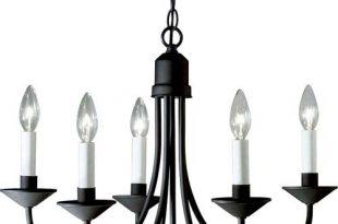 Progress Lighting P4008 31: Primitive Black Iron Chandelier 94400831