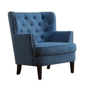 Tufted Blue Chair | Wayfair