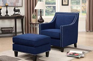 Amazon.com: Picket House Furnishings Emery Chair with Ottoman in