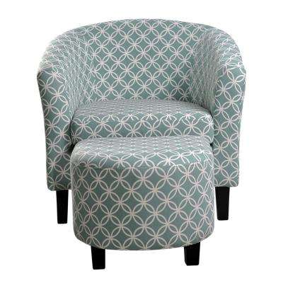 Yes - With Ottoman - Blue - Accent Chairs - Chairs - The Home Depot