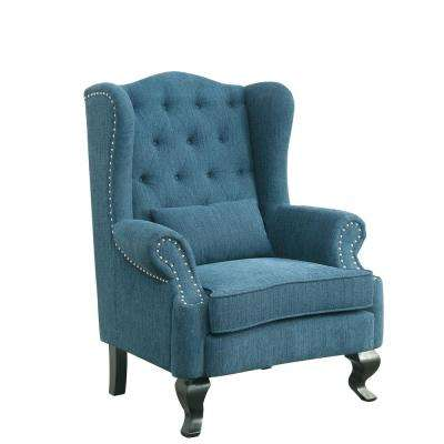 With Ottoman - Blue - Accent Chairs - Chairs - The Home Depot