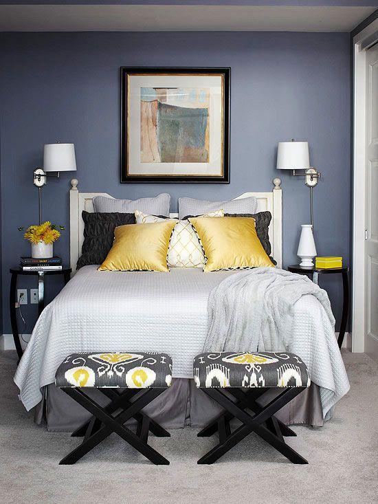 Bedroom Color Schemes | College/apartment ideas | Bedroom color