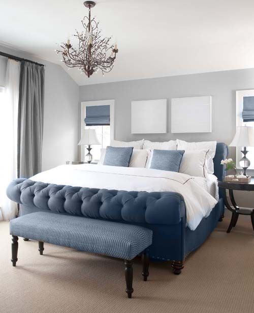i love love love this so much! blue + gray room. it's perfect