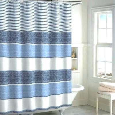 Blue Striped Shower Curtain Blue And White Striped Shower Curtain