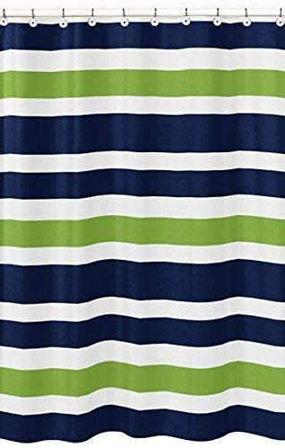 Amazon.com: Sweet Jojo Designs Navy Blue, Lime Green and White Kids