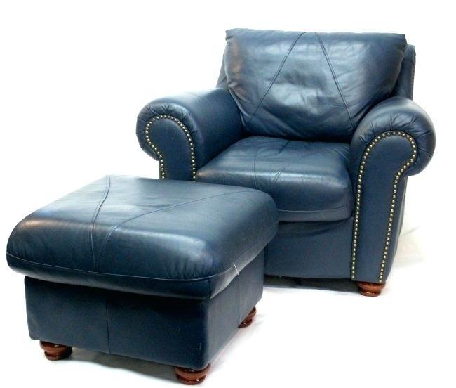 Sorrento Leather Club Chair Ottoman  | Ventnor Condo | Chair