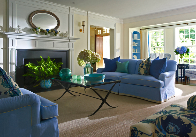 Blue Sofas In Living Room - Living Room Ideas