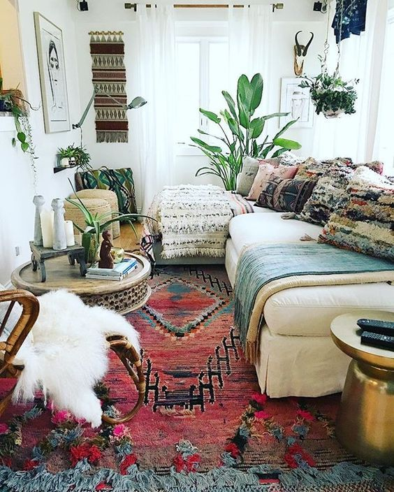 Bohemian Chic Living Room Makeover