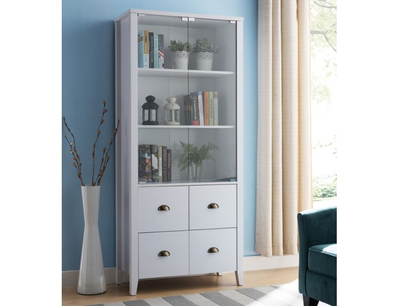 Sylas Bookcase With Glass Doors