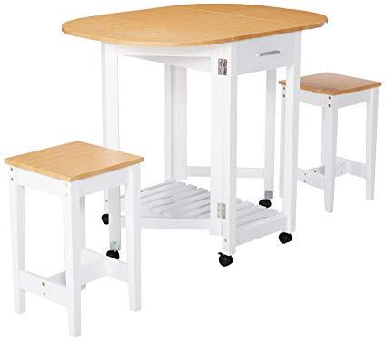 Amazon.com - Basicwise QI003279.3 3 Piece Kitchen Breakfast Bar Set
