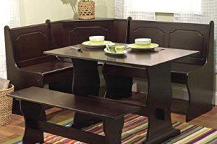 Amazon.com - Nook Table Breakfast Bench Corner Dining Set 3 Piece