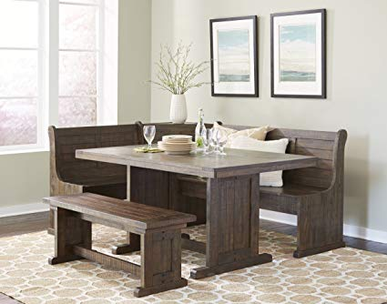 Amazon.com: Homestead Sunny Designs Breakfast Nook with Side Bench
