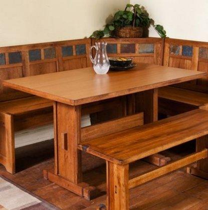 Amazon.com : Sedona Breakfast Nook Set w/ Side Bench 4PC Set