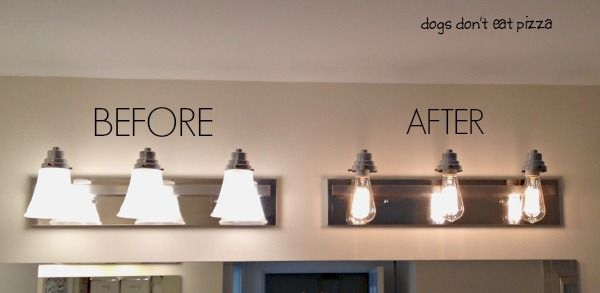 How to Update Bathroom Lighting (it's as easy as changing a