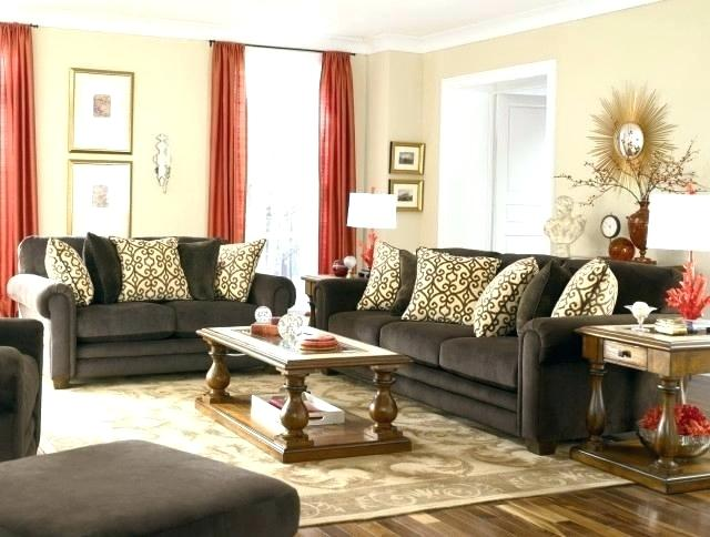 Living Room Decor With Dark Brown Couch - Home Decor, Landscape