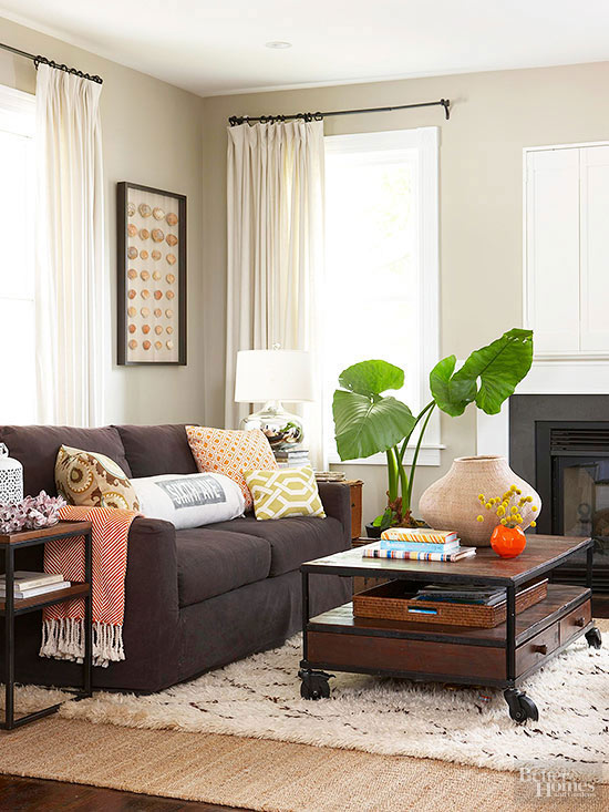 Ways to Decorate with a Brown Sofa | Better Homes & Gardens