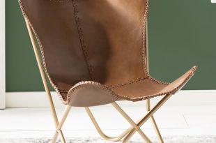 Mistana Justa Leather Butterfly Chair & Reviews | Wayfair