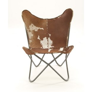 Brown Leather Butterfly Chair | Wayfair