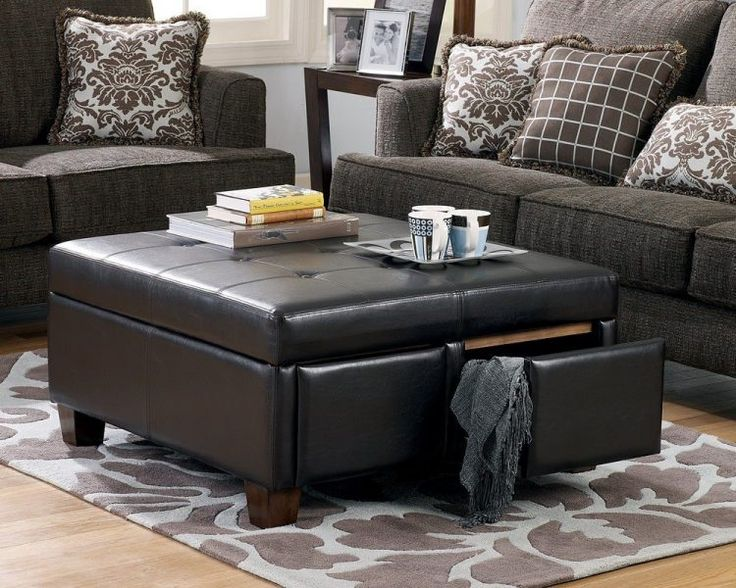 Captivating Ottoman Coffee Table Storage | wallercountyelections.com