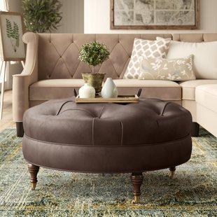 Leather Ottomans You'll Love | Wayfair