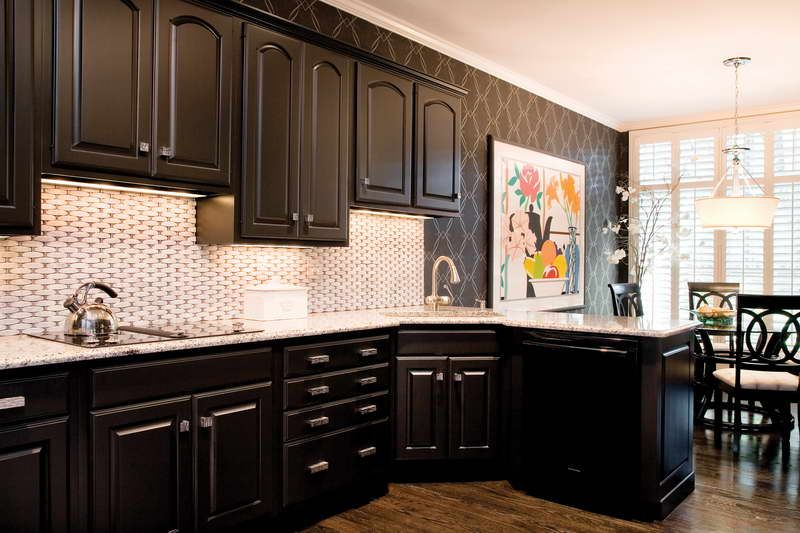 brown painted kitchen cabinets - Google Search | REMODEL/REVAMP