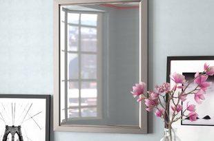 Brushed Nickel Bathroom Mirror | Wayfair
