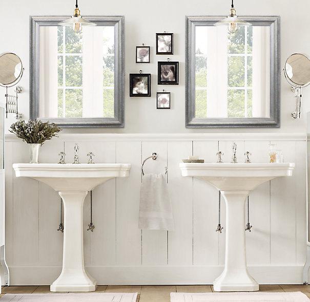ANY COLOR Brushed Nickel Modern Bathroom Mirror Framed | Etsy