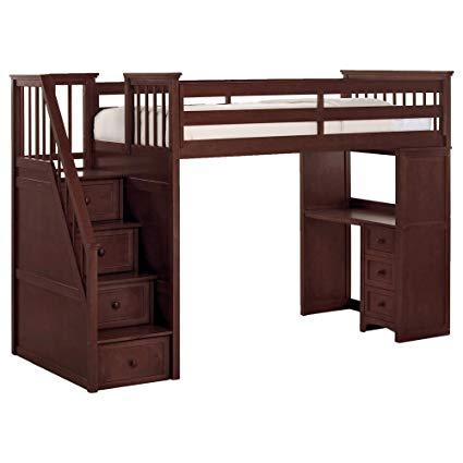 Amazon.com: NE Kids School House Stair Loft Bed in Cherry: Kitchen