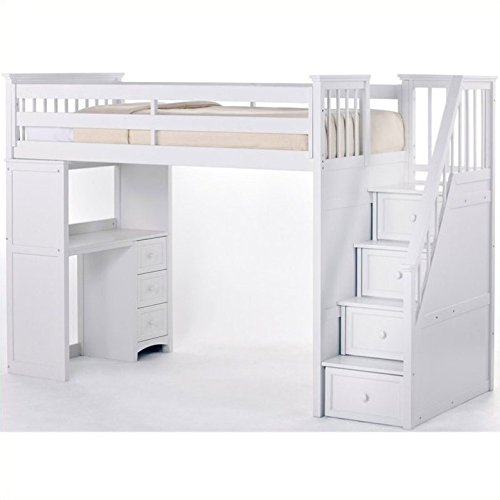 Bunk Beds with Stairs and Desk: Amazon.com