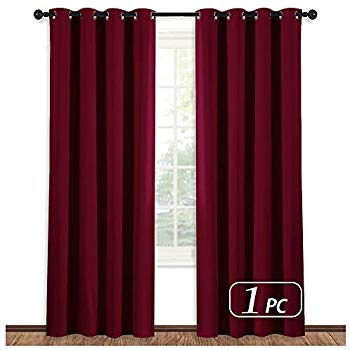 Amazon.com: NICETOWN Burgundy Curtains for Living Room - (Burgundy