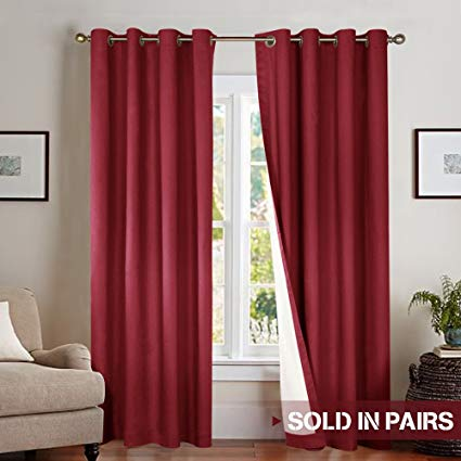 Amazon.com: Blackout Curtains for Bedroom Thermal Insulated Window