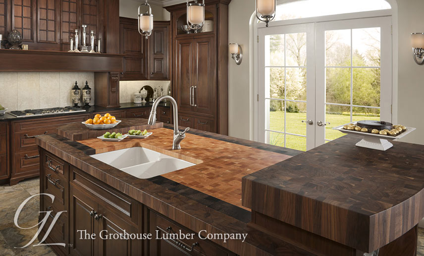 Butcher Block Countertops for Kitchen and Bath by Grothouse