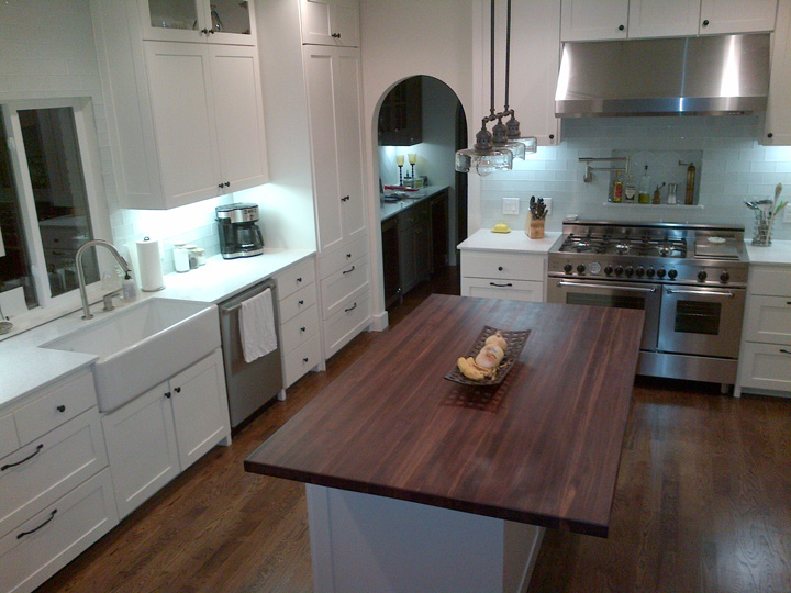 Walnut Butcher Block Countertops - Country Mouldings