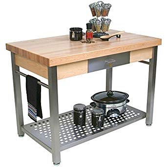 Amazon.com: Cucina Grande Prep Table with Butcher Block Top Size