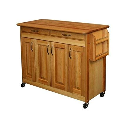 Amazon.com - Butcher Block Kitchen Island Table Cart with Storage