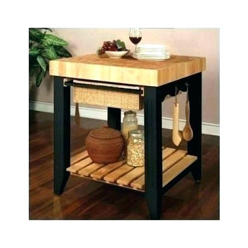 Butcher Block Table With Storage Medium Size Of Decorating Maple