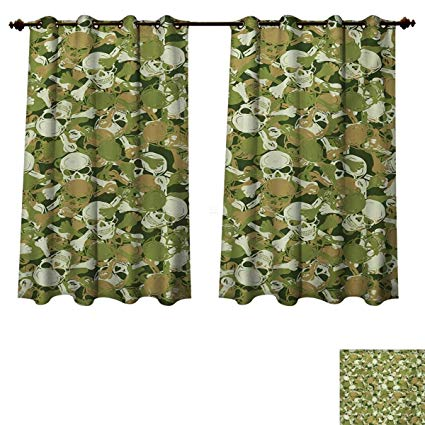 Amazon.com: RuppertTextile Camo Blackout Thermal Backed Curtains for