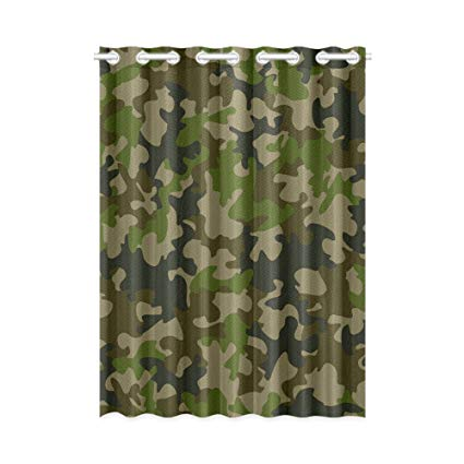 Amazon.com: InterestPrint Blackout Window Curtain Green Camouflage