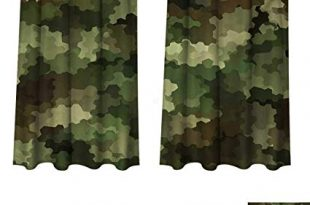 Amazon.com: RuppertTextile Camo Blackout Curtains Panels for Bedroom