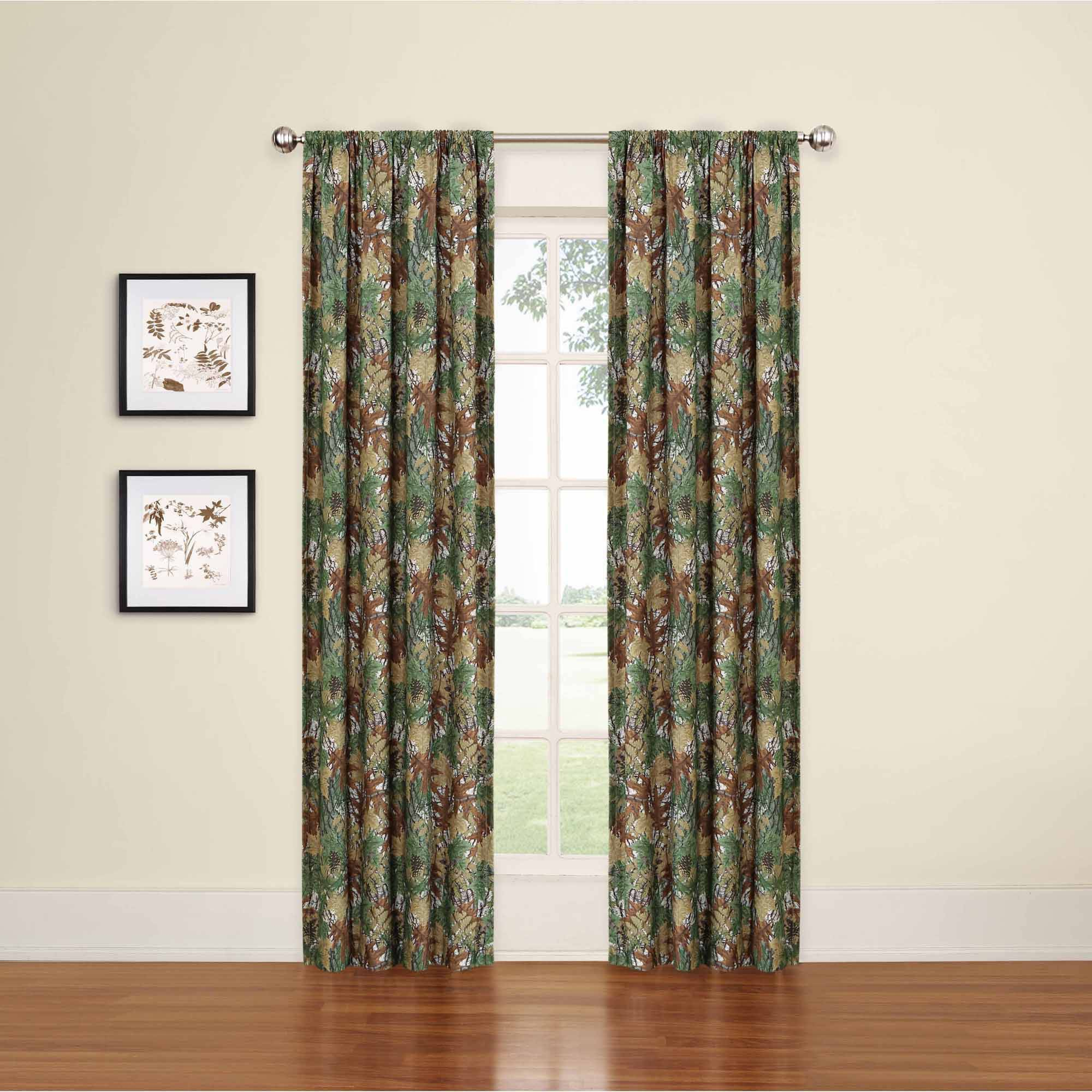 Eclipse My Scene Camo Print Room Darkening Boys Bedroom Curtain