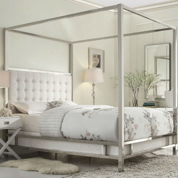 Canopy Bed With Upholstered Headboard