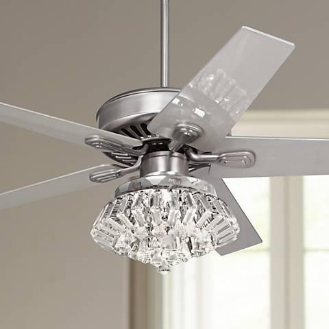 Crystal Chandelier Ceiling Fan - Thetastingroomnyc.com