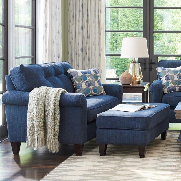 La-Z-Boy Laurel Oversized Chair and Ottoman Set | Zak's Fine