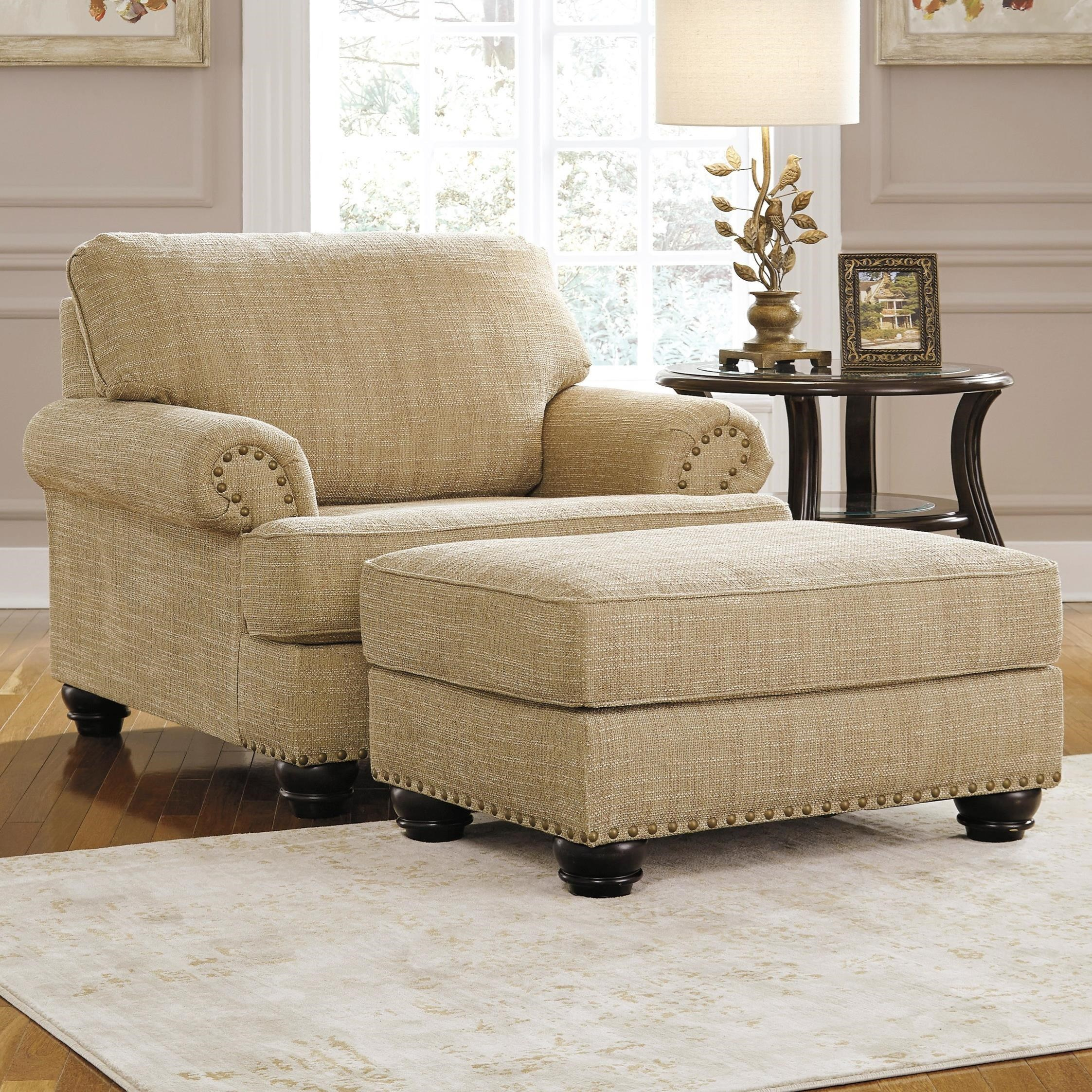 Benchcraft Candoro Chair and a Half & Ottoman   Boulevard Home
