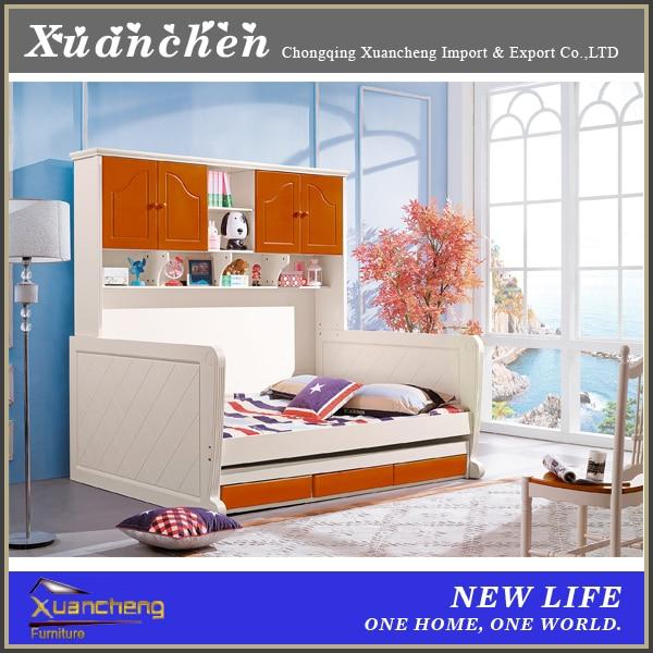 kids double deck bed, wooden furniture bedroom double deck bed