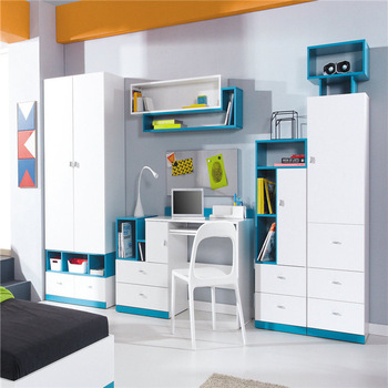 Kids Children Bedroom Furniture Bunk Bed Shelf Storage Drawers