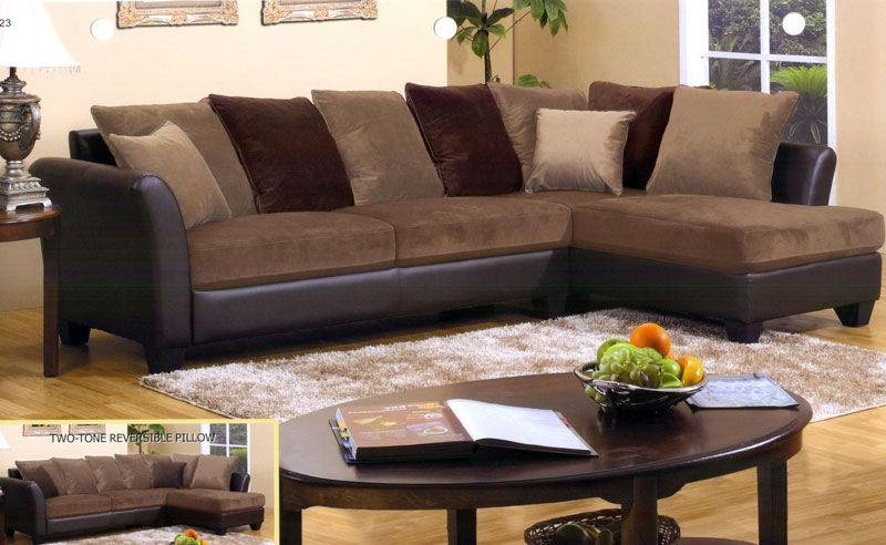 Chocolate Brown Sectional Sofa with Chaise | Chaise Sofa | Sectional